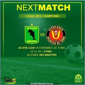 CAF–C1: Face à l'Espérance de Tunis, V. Club jouera sans Avadongo et Fiston Kalala