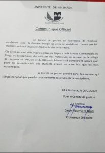 UNIKIN: Le comité de gestion tape le poing sur la table.