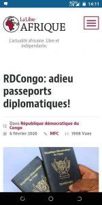 RDC: Des passeports diplomatiques privés aux proches de Kabila ?