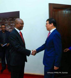 Partenariat Sino-Congolais :E. Shadary et Zhu Jing s'entretiennent autour des convergences idéologiques.