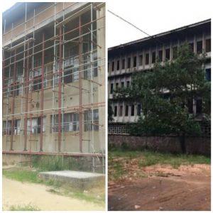 Unikin : les travaux de réhabilitation des Homes des étudiants marquent les pas.