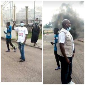 Kinshasa-COVID19: L'équipe de riposte de nouveau dans la rue pour réclamer le payement de leurs arriérés de salaire.