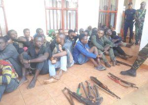 RDC:Présentation des présumés bandits  préparant l'attaque contre la base de la Monusco et de l'armée à Butembo